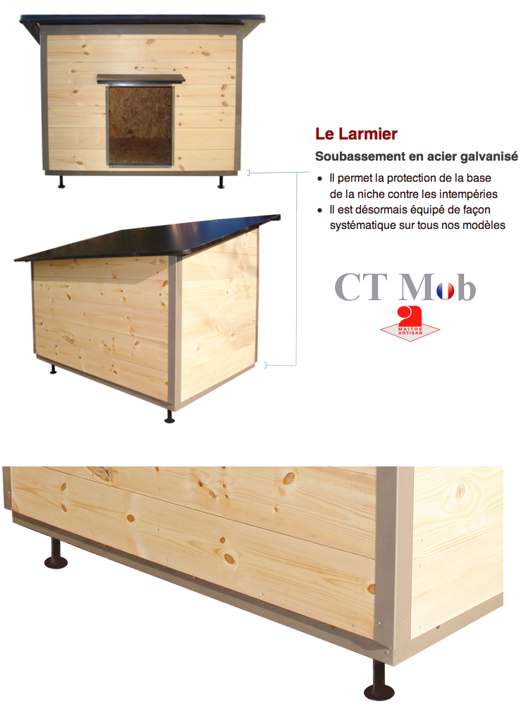 constructeur de tr s belles niches une niche pour chien isol e en bois. Black Bedroom Furniture Sets. Home Design Ideas