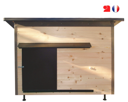 constructeur de tr s belles niches pour petits chiens isol es en bois. Black Bedroom Furniture Sets. Home Design Ideas