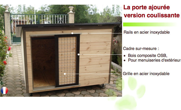 constructeur de tr s belles niches pour chiens isol es en bois avec terrasse. Black Bedroom Furniture Sets. Home Design Ideas